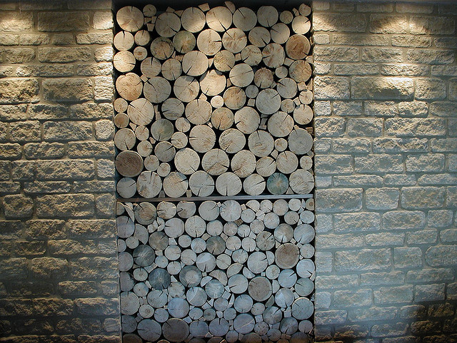 office feature wall ideas. go for the rustic look build a feature wall using stacked logs and bricks office ideas d
